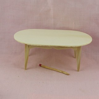 Table ovale meuble miniature maison de poupée