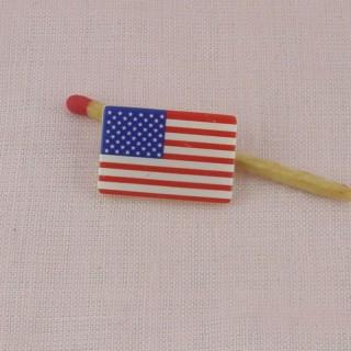 Boutons drapeau américain USA,
