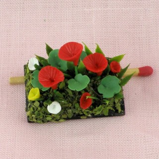 Miniature handmade potted geraniums miniature for doll house