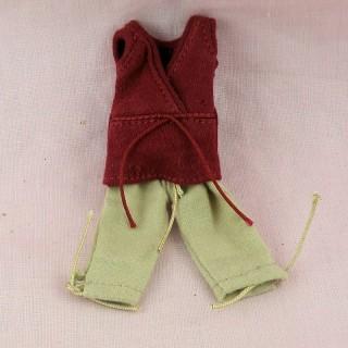 Pantalon et pull pour poupée habits miniatures poupée 1/12eme