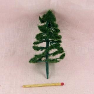 Arbre sapin miniature jardin maison poupée 13 cm,