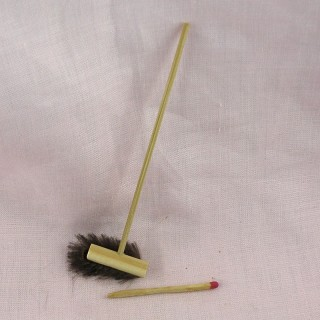 Miniature push broom 11 cms