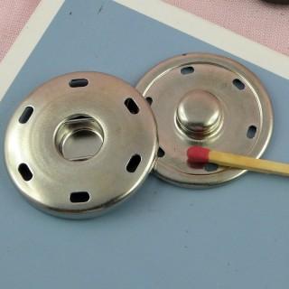 Bouton pression géant à coudre 35 mm.