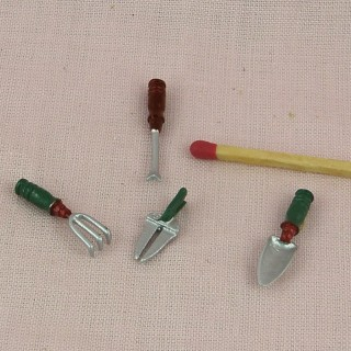 Outils miniatures jardin sécateur pelle gouge grattoir