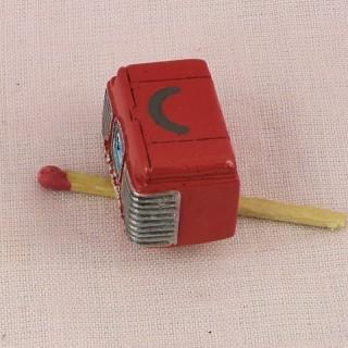 Poste radio rétro miniature maison poupée