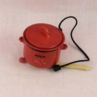 Autocuiseur miniature cuisine poupée 1/12 eme