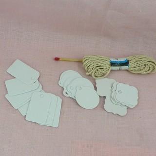Etiquettes carton découpéees décoration