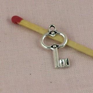 Pendentif breloque clef miniature 2 cm