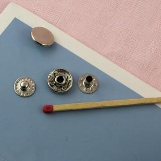 Bouton pression métal àemboutir 11 mm.