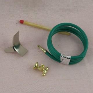 Carpenter miniature tools, doll house, 8  pieces