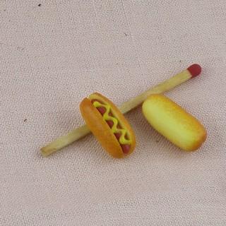 Hotdog miniature maison poupée