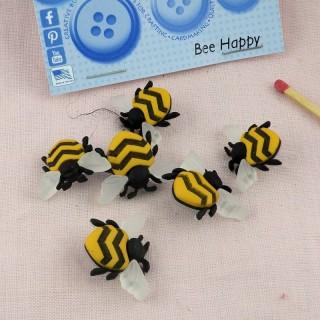 Boutons abeilles Dress it up insectes