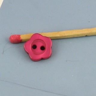 Boutons forme fleur nacrés 1 cm