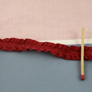 Ruban volanté plissé ruché froufrou 13 mm.