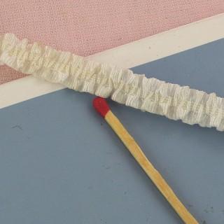 Ruban gros-grain volanté élastique 1 cm.