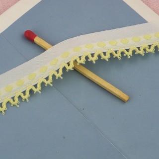 Galon brodé dentelle crochet 17 mm