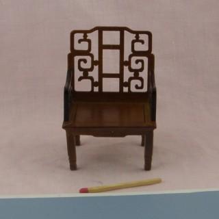 Fauteuil bois miniature maison de poupée