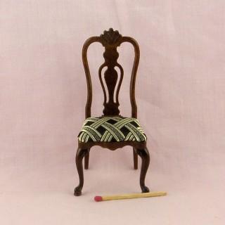 Chaise miniature salon maison de poupée