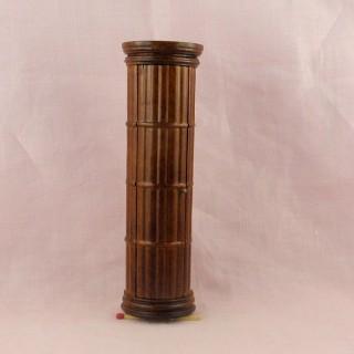Bibliothèque colonne Empire miniature maison poupée