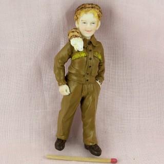 Statuette garçon  en David Crokett