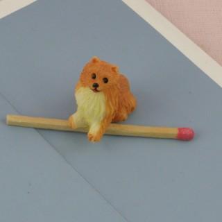 Perro Cocker miniatura casa muñeca, 2 cm.