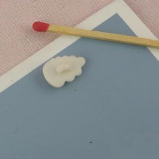 Bouton coquillage àpied 14 mm