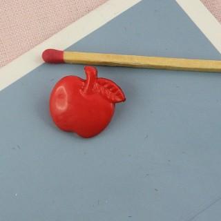 Bouton pomme rouge fruit à pied 16 mm