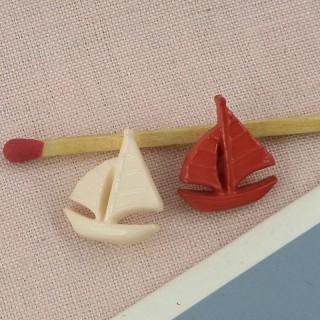 Bouton bâteau àvoiles, voilier,