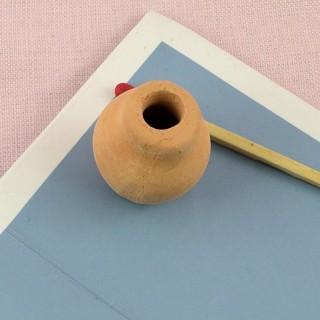Jarre pot fleurs terre cuite miniature maison poupée