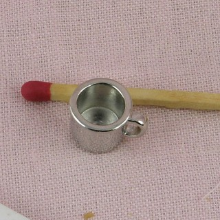Mug tasse métal miniature 1 cm