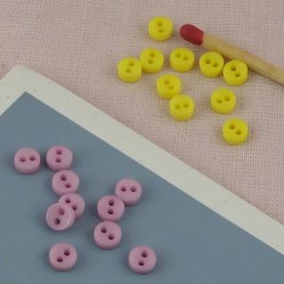 Petits Boutons plats creux minuscules 5 mm.