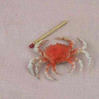 Crabe miniature cuisine poupée 9 cm.
