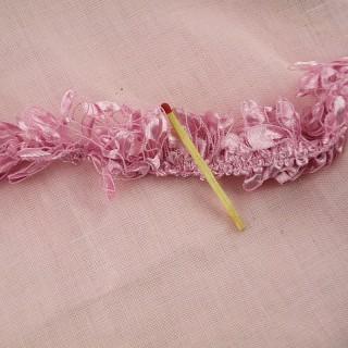 Boa mini pour poupée Ruban froufrou frange  25 mm.
