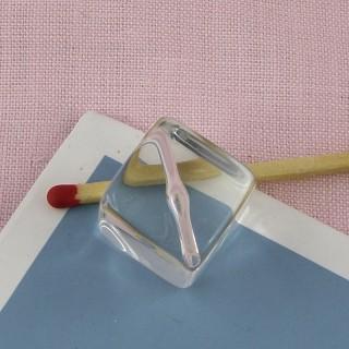 Cube de Glace miniature poupée 15 mm