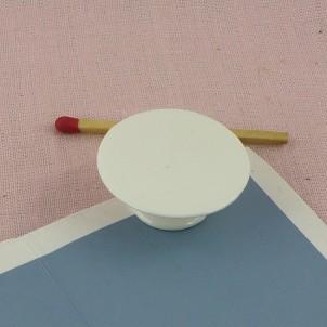 Plat porcelaine miniature poupée 3 cm