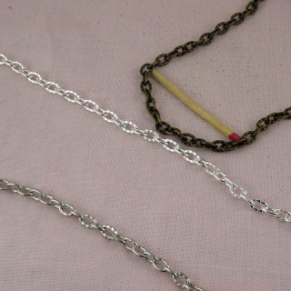 Small loop steel chain plated jewelry making by meter