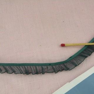 Ruban organdi volant plissé élastique 9 mm.