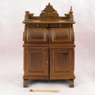 Bureau cylindre miniature maison poupée