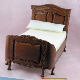 Lit miniature deux places miniature poupée