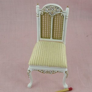 Chaise meuble miniature salon maison de poupée