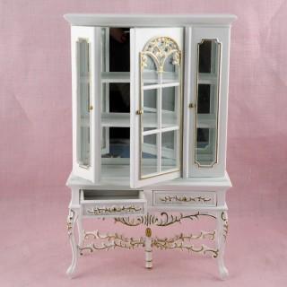 Meuble Vitrine miniature maison poupée