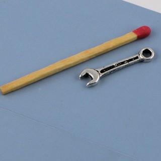 Breloque Clef anglaise outils miniatures