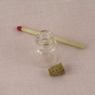Bouteille mini en verre fiole