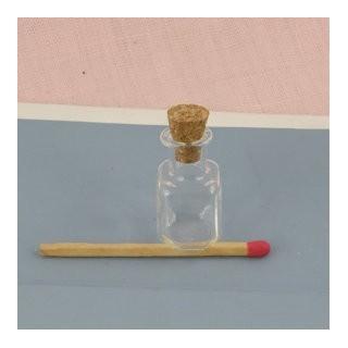 Bouteille mini en verre fiole carrée
