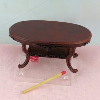Table basse acajou miniature maison poupée,