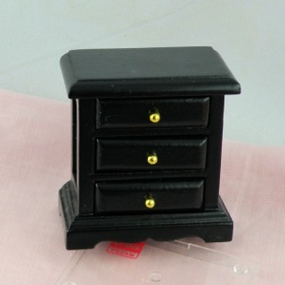 Miniature night table bedside wooden
