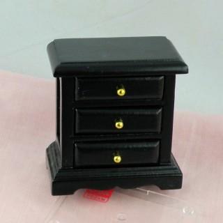 Table de nuit chevet miniature en bois peint