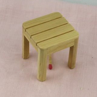 Tabouret miniature mobilier en bois