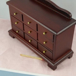 Hight chest 4 drawers miniature furniture doll house bedroom