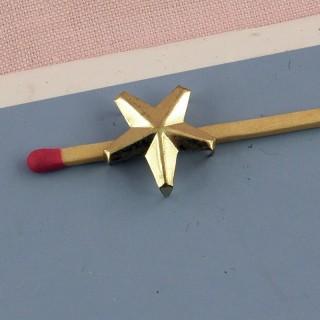 Clou forme étoile dorée spot plot 14 mm.